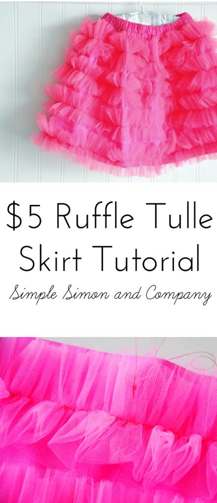 Ruffle Tulle Skirt Tutorial
