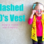 Slashed 80's Vest