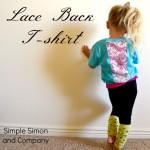 Lace Back T-shirt Tutorial