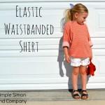 Elastic Waistband Shirt Tutorial