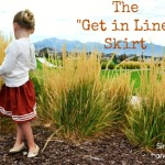 The Get in Line Skirt or How to Sew Some Yarn onto a Skirt