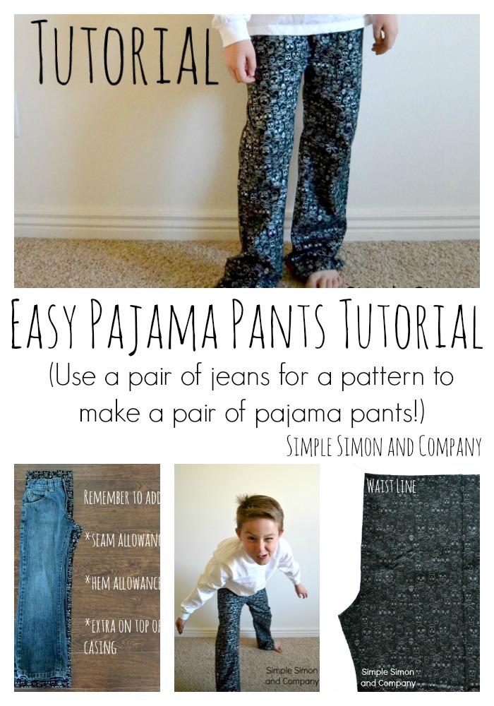 Easy Pajama Pants Tutorial Collage