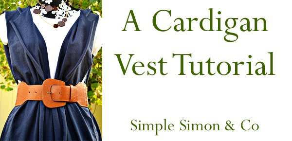 Cardigan Vest Tutorial Picture