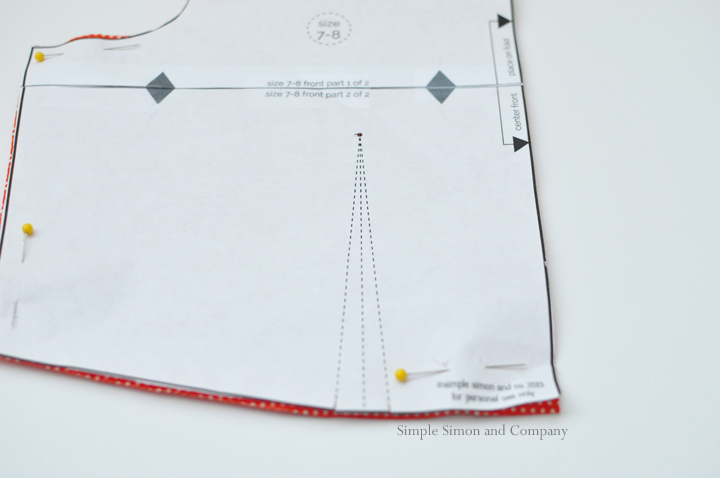 how to sew a dart--step 1
