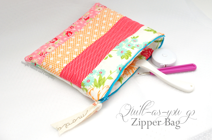 quilt-as-you-go zipper bag title photo