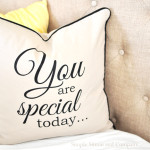 {You are Special Today} Pillow Tutorial