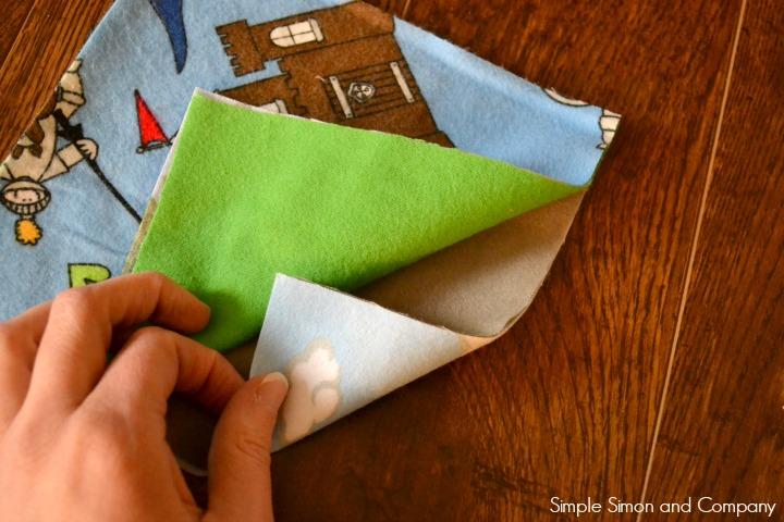 Rag Square Baby Blanket Step 2