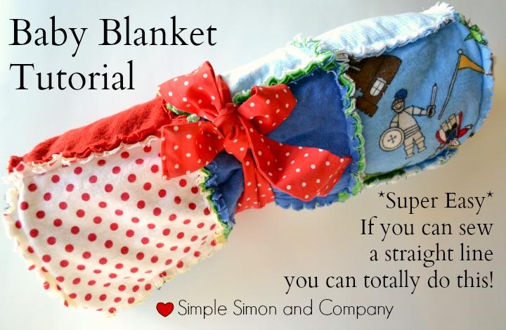 EASY Ragged Baby Blanket Tutorial