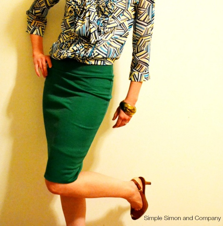 Pencil Skirt Tutorial Knit Green