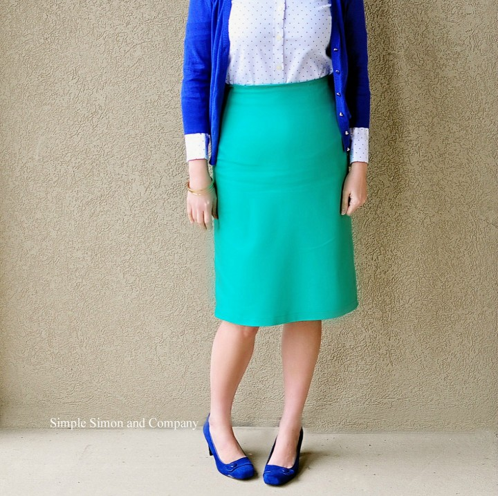 green pencil skirt sew along