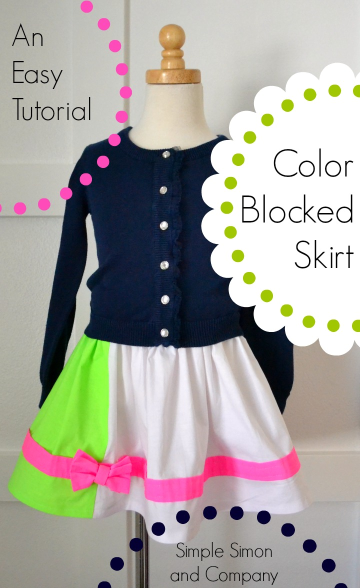 Co color by number girls - Color Blocked Skirt Tutorial