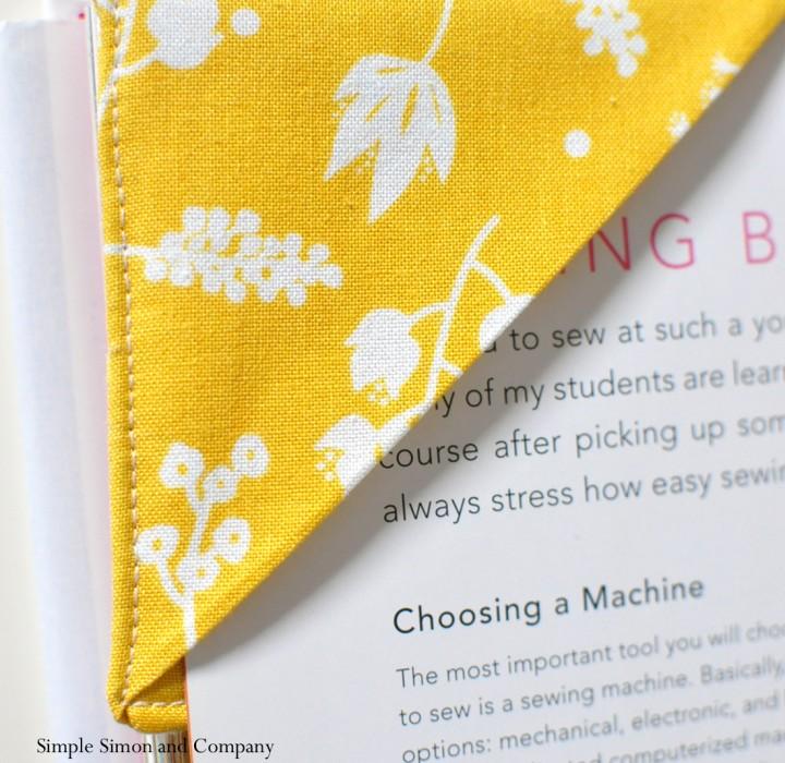 Fabric bookmark simple simon and company