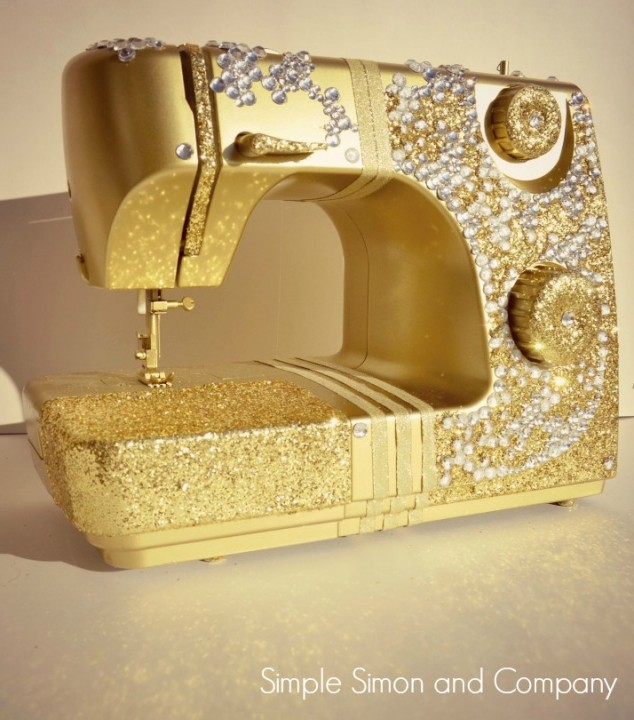 Golden Bling Sewing Machine