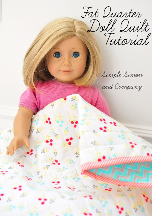 fat quarter doll quilt