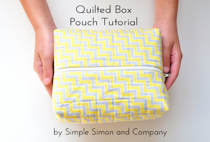 quilted box pouch tutorial