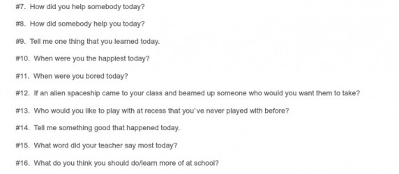 25 Ways to Ask Your Kid How was School Today Printable