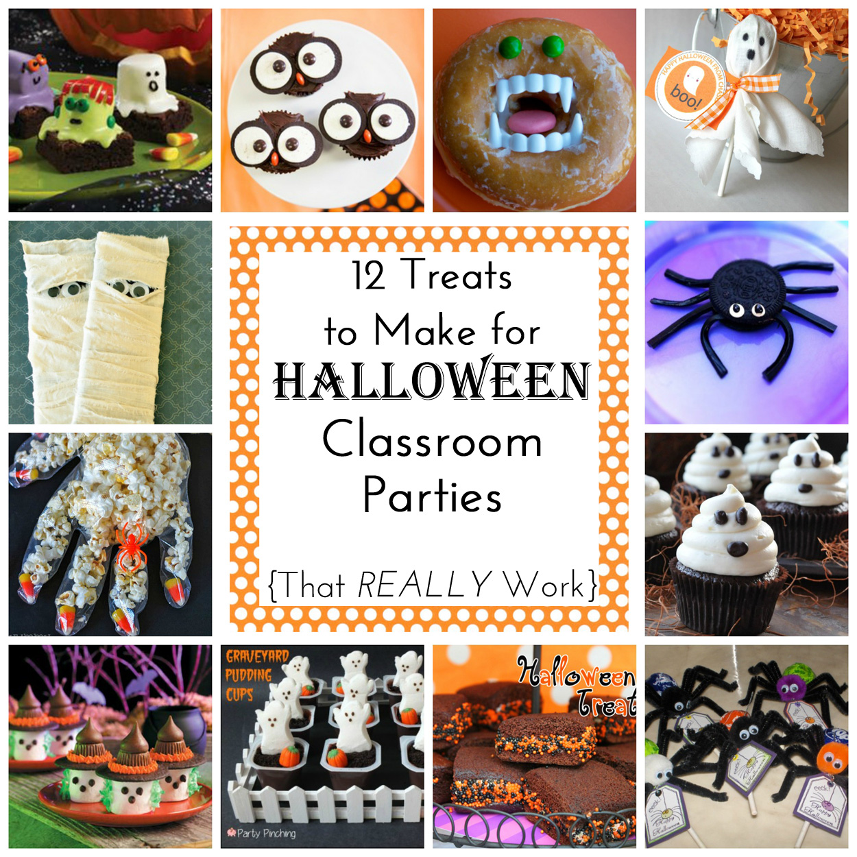 12 Easy Treats (to make) for Halloween Class Parties - Simple ...