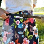 A Wide Waistband Pleated Skirt Tutorial