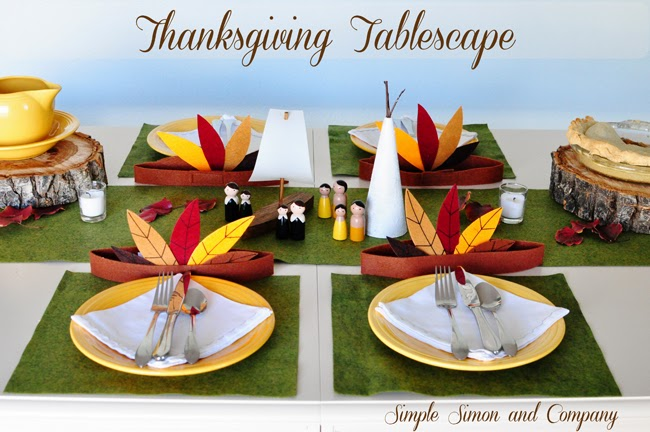 Thanksgiving tablescape--Simplesimonandcompany
