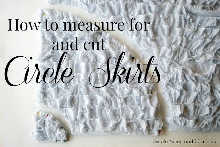 Circle Skirt How to Measure and Cut with text