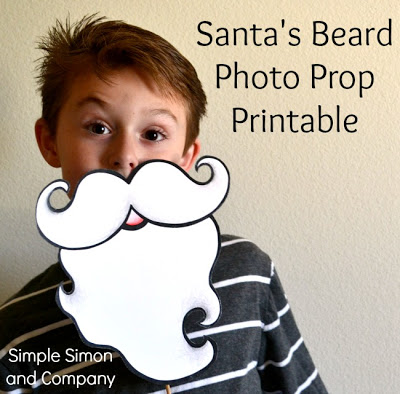 Santa Beard Photo Prop