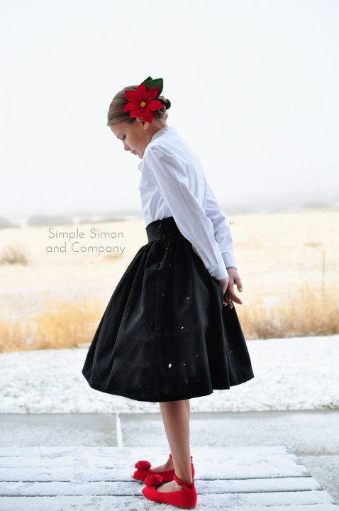 black skirt holiday outfit