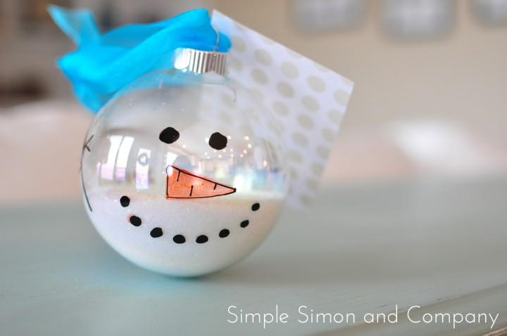 snowman ornament end shot