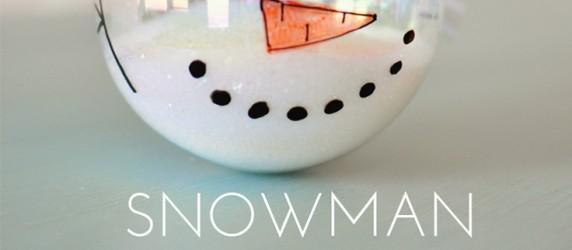 title collage snowman ornament