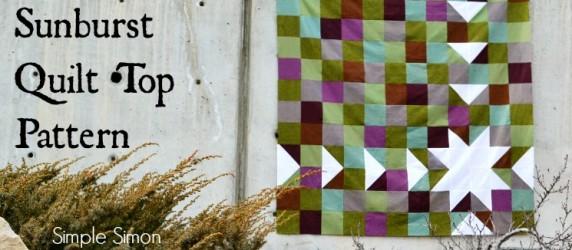 Sawtooth Sunburst Quilt Top Pattern