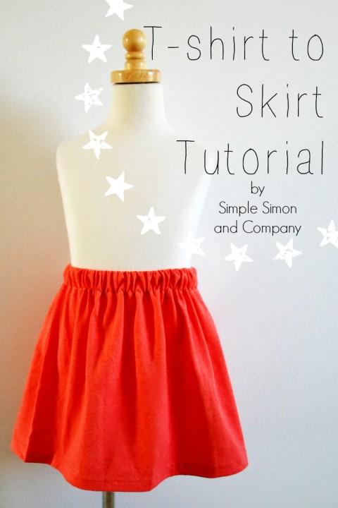 Tshirt Skirt Tutorial