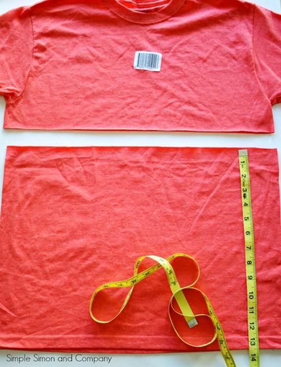 Tshirt Skirt Tutorial Step One