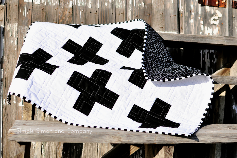 Black And White Modern Baby Quilt Simple Simon And Company