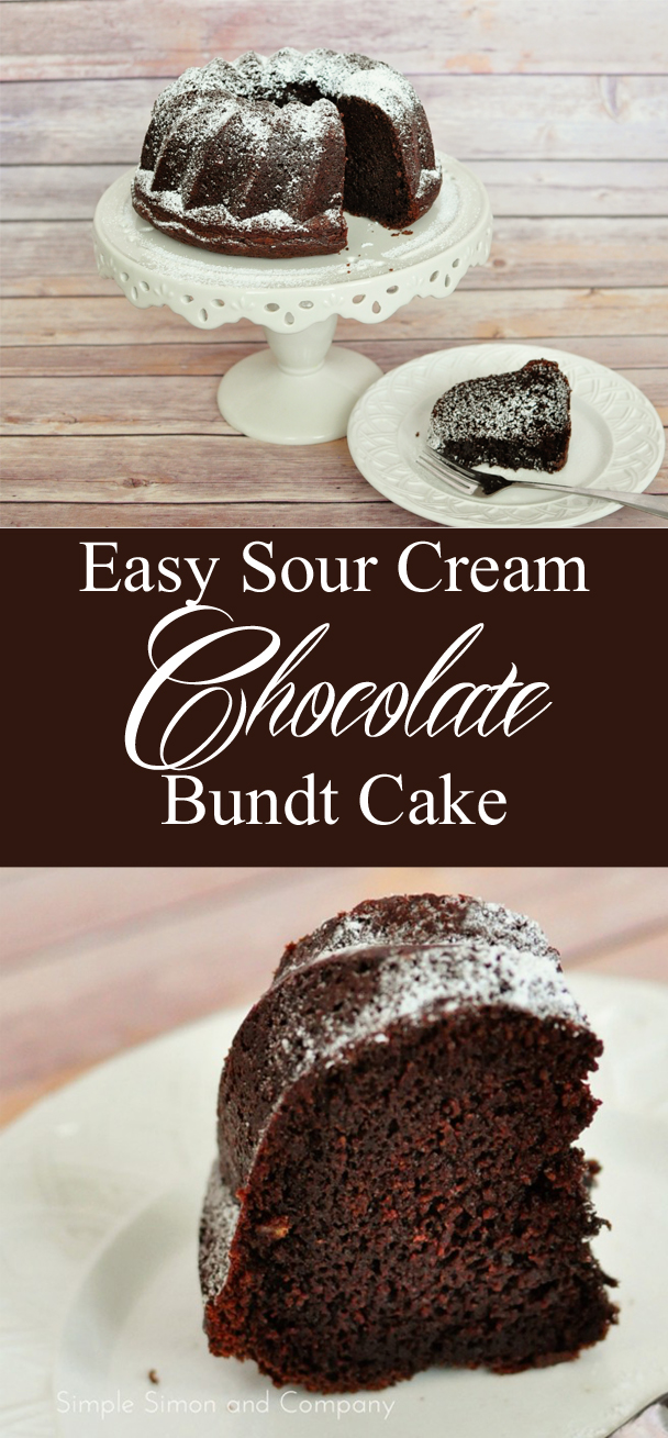 Chocolate Sour Cream Bundt Cake Recipe - Simple Simon and Company