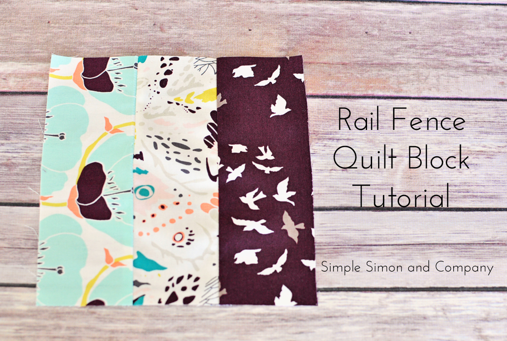 Quilt block of the month rail fence
