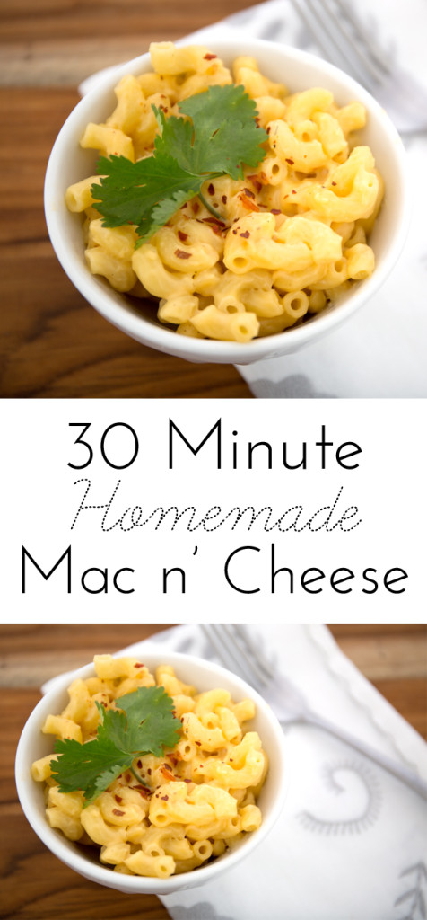 Homemade Macaroni and Cheese in 30 minutes!