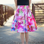 A Spring Skirt---and a tutorial on an easy gathered skirt!