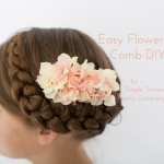 Easy Flower Comb DIY