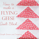 Quilt Block of the Month: Flying Geese Quilt Block Tutorial