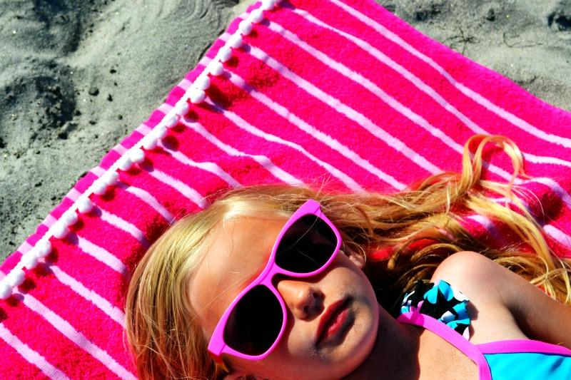 Pom Pom Embellished Beach Towel