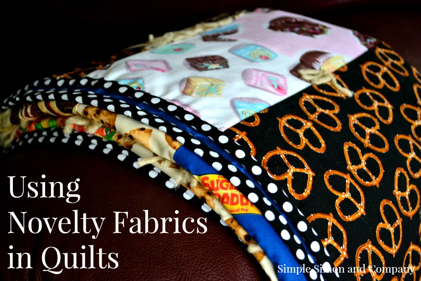 Family movie night quilt sewing with novelty fabrics for Space pizza fabric