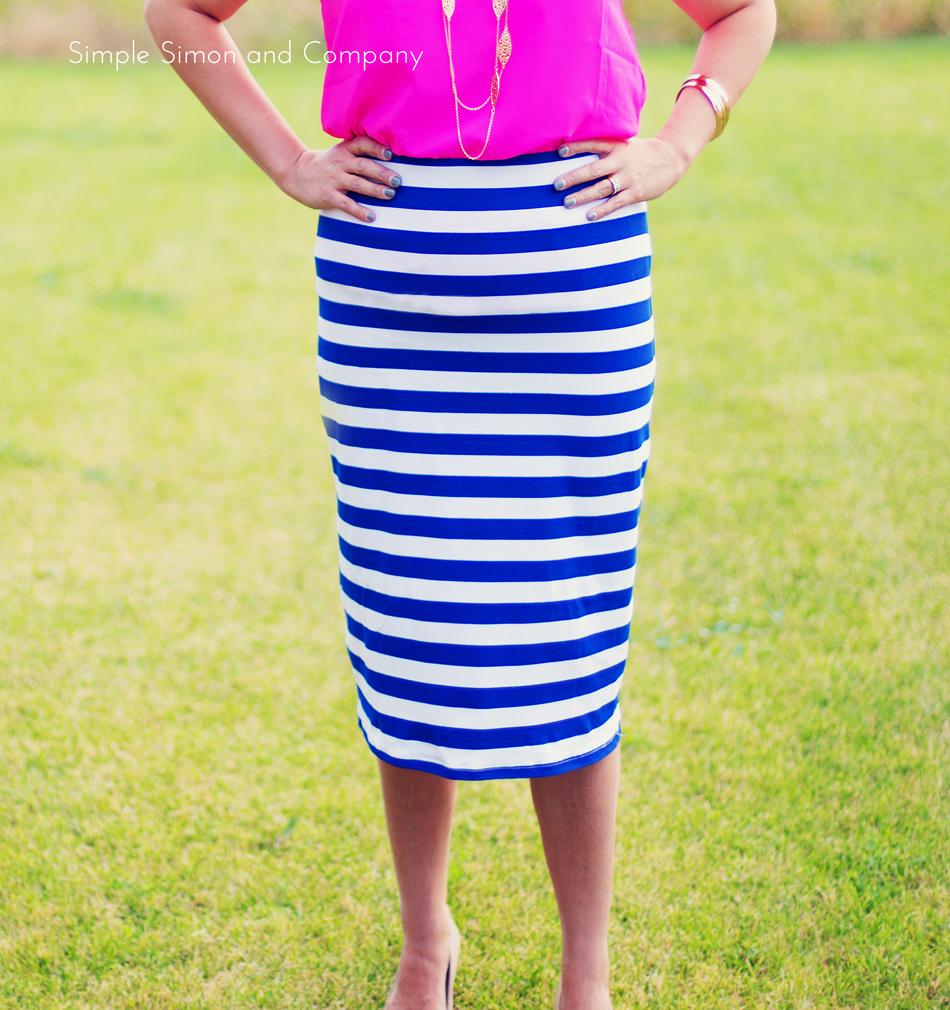 Knit Pencil Skirt Tutorial–Midi Length