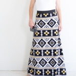 Simple Women's Maxi Skirt PDF Pattern---FREE!!!