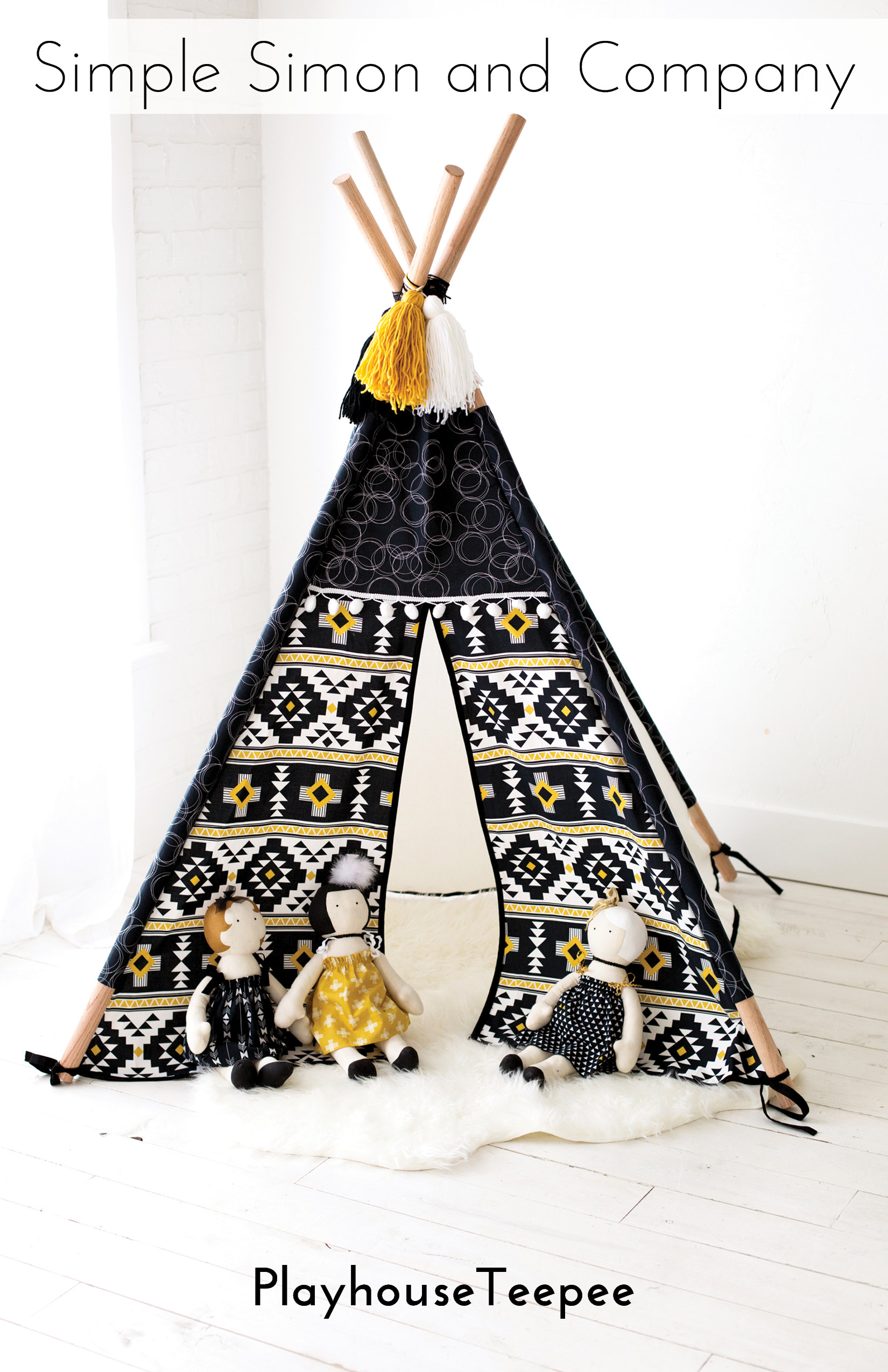 The Playhouse Teepee PDF Pattern…now available!