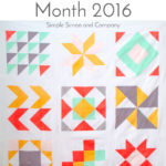 2016 Quilt Block of the Month Quilt Top