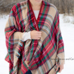 Blanket Scarf Wrap Tutorial