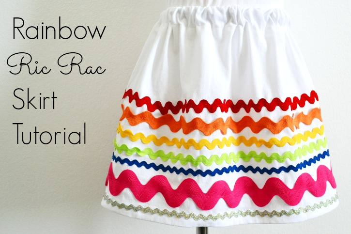 Rainbow Ric Rac Skirt Tutorial
