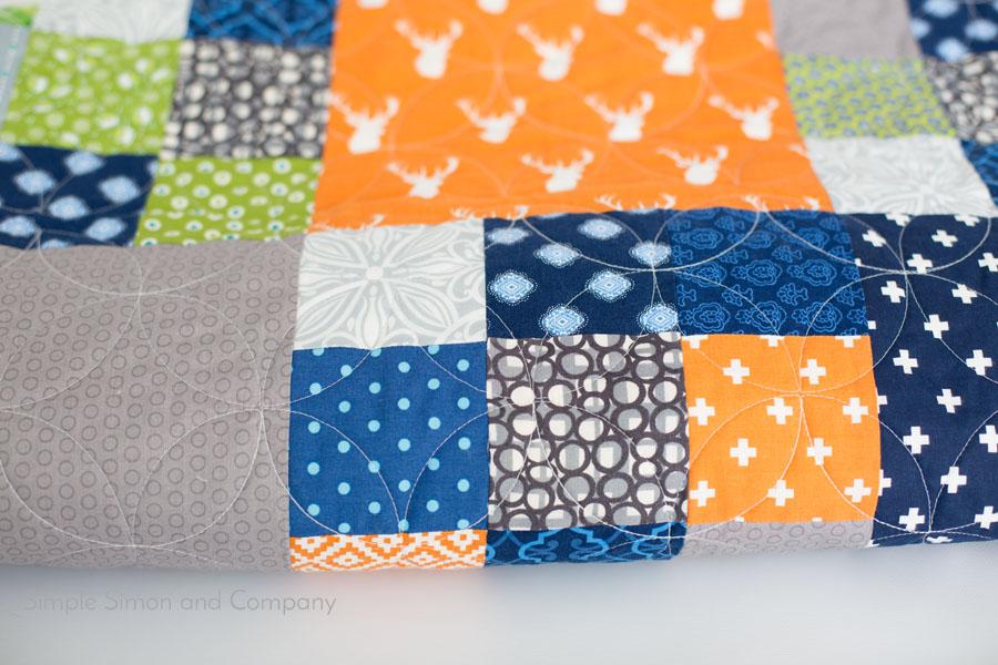 building blocks quilt detail