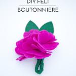 DIY Felt Boutonniere