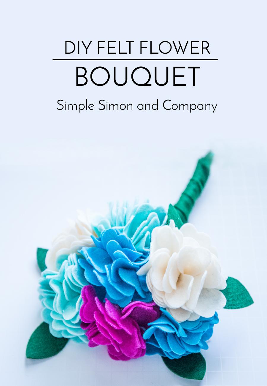 felt flower bouquet tutorial