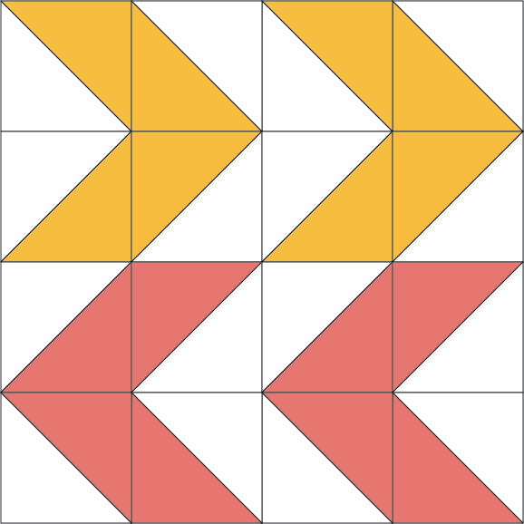 November Quilt Block of the Month–Double Arrows Quilt Block